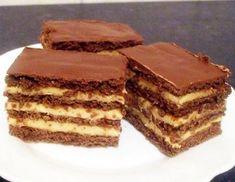 Stollwerck szelet - Blikk Rúzs Hungarian Recipes, Hungarian Food, Tiramisu, Food And Drink, Yummy Food, Ethnic Recipes, Sweet Sweet, Cakes, Drinks
