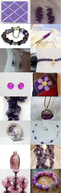 My Jelly Purple Stud featued on >>>>>>> Purple Gratitude Treasury by Lynn Goellner on Etsy--Pinned with TreasuryPin.com