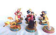 Lot of 9 McDonalds 100 Years of Disney Figurines Jiminy Doc Happy Pocahontas Abu