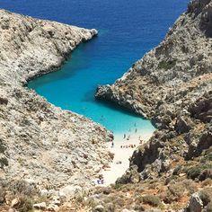 Beautiful beach on Crete