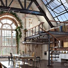 """A project we worked on for the Evermotion """"Whole a Lot of Loft"""" competition. Inspired from a cotton factory in Varna, we designed the interior."""