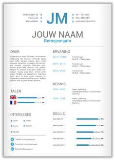 CV template 360. Volledig in Microsoft Word voor elke functie zelf aan te passen.