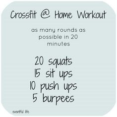 Crossfit ARMP (Squats, Sit Ups, Push Ups, Burpees)