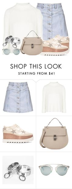 """Untitled #2707"" by elenaday on Polyvore featuring Topshop, STELLA McCARTNEY, Chloé and Christian Dior"