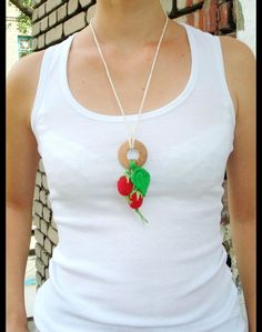 Crochet nursing necklace with toy are great gift for new mom and for baby. The combination of  crochet beads, unfinished wooden beads and qualitative beads  makes necklace a special and...
