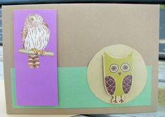 Owl Card, Art Prints, Brown, Awesome, Unique Jewelry, Handmade Gifts, Cards, Etsy, Vintage