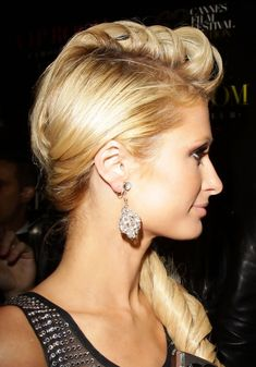 Curly Wedding Side Hairstyles | Picture of Side View of Paris Hilton Loose Side Ponytail /Getty Images ...