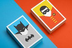 super heros cartes batman et robin