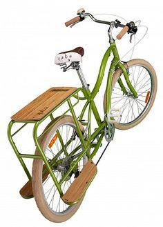 Yuba Bike's Boda Boda with bamboo: the bike I'm currently wishing I had for carting kids and stuff...