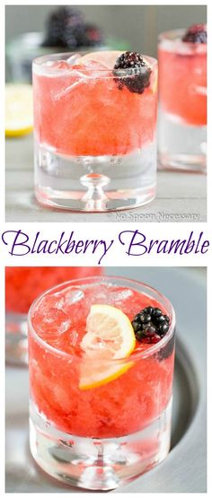 Blackberry Bramble - a Gin & Blackberry Cocktail. Dessert Drinks, Bar Drinks, Cocktail Drinks, Cocktail Recipes, Drink Recipes, Refreshing Drinks, Summer Drinks, Sangria, Cocktail