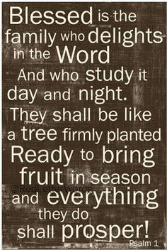 Psalm 1 Now if I could just DIY this in a huge size to fill the wall between my breakfast room and family room!