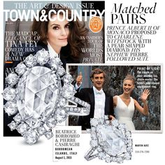 #TinaFey #jewelry #finejewelry #diamonds #ring #engagementring #luxury #TownandCountry #MartinKatz #MartinKatzJewels