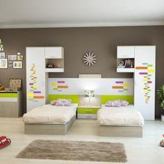 Dormitoare Copii Cu 2 Paturi - Magazin Pentru Mobila FDRR Kids Bedroom Furniture Design, Smart Furniture, Space Saving Furniture, Kids Room Design, Small Room Bedroom, Room Decor Bedroom, Boy Room, House Design, Interior Design