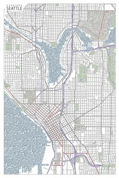Seattle   Typographic Maps
