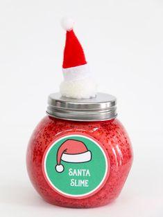 Christmas Slime Recipe Ideas & Free Printable Tags   Fun365