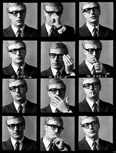 Michael Caine photographed by Brian Duffy.                                                                                                                                                                                 More