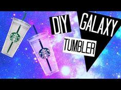DIY Galaxy Inspired Tumbler Cup | Starbucks Edition! Nichole Jacklyne - YouTube