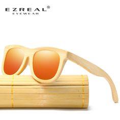 EZREAL New Men's Wooden Polarized Sun Glasses Retro Men And Women Luxury Handmade Bamboo Sunglasses for Friends as Gifts Mirrored Sunglasses, Mens Sunglasses, Retro Men, New Man, Men And Women, Eyewear, Mens Fashion, Luxury, Handmade