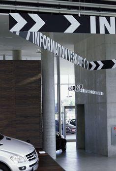 büro uebele // autohaus pappas orientierungssystem salzburg 2006