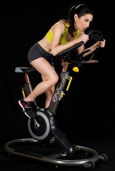 Indoor cycling is a great calorie burning workout. Indoor cycling with the Evo Fitness Bike not only works out your legs but also your core and upper body.