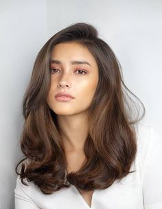 One Side Parted Wavy Human Hair Women Wig 20 Inches Wavy Hair hair Human Inches Parted Side wavy Wig Women Medium Hair Styles, Curly Hair Styles, Natural Hair Styles, Hair Styles Waves, Brown Hair Colors, Natural Hair Color Brown, Black Hair Brown Eyes Girl, Brown Hair Cuts, Natural Brown Hair