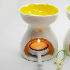 High capacity candle oil burner    Colored Ceramic Essential Oil Burner