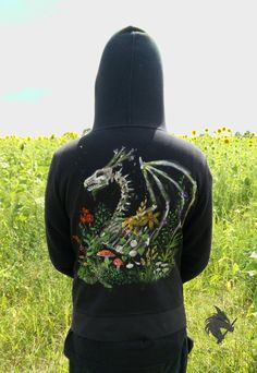 Skeletal Dragon Botany Hoodie by https://melaniethedragon.deviantart.com on @DeviantArt