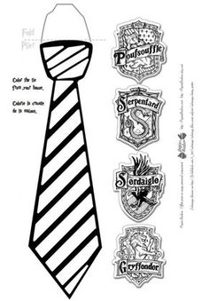 Printable cravate Harry Potter