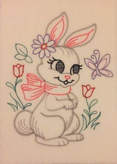 A personal favorite from my Etsy shop https://www.etsy.com/listing/528021006/vintage-bunny