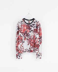 {FLORAL PRINT SWEATSHIRT from Zara}