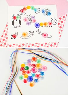 Easy Paper Quill Animal Art. Let the kids create their own quirky animals with this easy paper quill project!