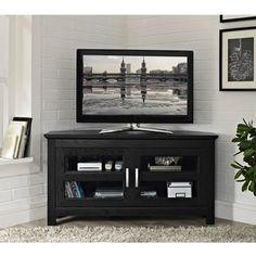 Beautiful Black Corner Tv Cabinet