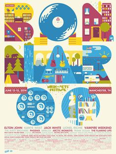 Our 2014 Bonnaroo poster