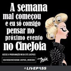 Confira no site da #livepass os próximos eventos do #CineJoia  #balada #baladasp #saopaulo #sampa #noite #baladas #noitada #party #sampa #night #fun #music #weekend #balada #sp #friends #club