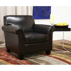 Faux Leather Club Chair