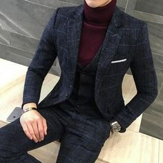 3 Piece Men's Plaid Suits Coat Pants Vest Slim Fit Men's Suits Item Type: Men's Plaid Suits Material: Linen, Microfiber, Polyester Front Style: Flat Fit Type: Skinny Pant Closure Type: Zipper Fly Closure Type: Single Breasted Clothing Length: Regular