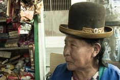 A Bolivian Cholita in Derby hat