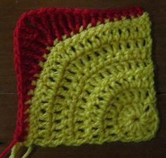 Quarter-circle Square for Rounded Mandala blanket ~ free pattern ᛡ