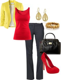 """""""Red & Yellow"""" by angel-gurl012 on Polyvore"""