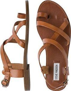97ed45af142e5b STEVE MADDEN AGATHIST SANDAL Image Leather Sandals Flat
