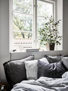 1476857900017 1 500 × 2 001 pixels soft and cozy bedroom i'm Cosy Bedroom, Modern Bedroom, Bedroom Decor, Grey Bedrooms, Bedroom Inspo, Living Room Windows, Living Spaces, Black White And Grey Bedroom, Ikea