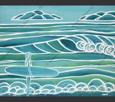 Spring - Captures the calm before the vibrancy of spring by Hawaii surf artist…
