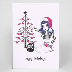 Bettie Happy Holidays Greeting Card - Valfre - 1