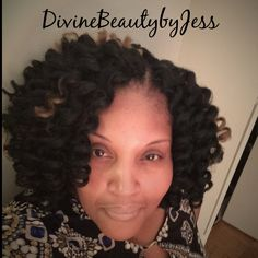 Crochets braids done by me! I used 4 packs of Noir Afro Twist by the Janet Collection.  Colors #1b and #27 for highlights. Hair was pre-curled with lavender rods prior to installation. For appointment and price inquiries follow me on Instagram at DivineBeautybyJess