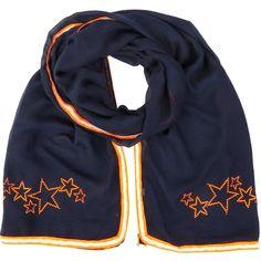 NEW: Metalhead studded NEON summer scarf (navy/orange)