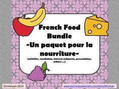 Everyone loves to save money AND that is exactly what you will do by purchasing this bundle  a savings of more than 25% than if you were to buy these products individually!Included in this bundle of 7 products are some of my BEST SELLERS!  This bundle includes the following products:French  Eating in Paris, France  Internet Activity (Food)French  Eating in Old Quebec City (Vieux-Qubec)  Internet Activity (Food)French  Food Shopping in Paris, FranceFrench  Mettons la table  Vocabulary for…