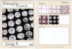 BEEZ in the Belfry: Tangle of the Week - Punch ~ use any shape as the 'punch' ~ hearts, diamond, stars, squares, etc.
