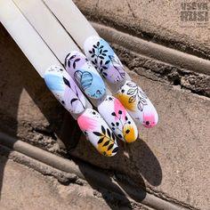 Art Deco Nails, Gel Nail Art, Almond Acrylic Nails, Summer Acrylic Nails, Nail Art Designs Videos, Nail Designs, Cute Nails, Pretty Nails, Karma Nails