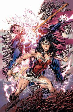 Superman/Wonder Woman #15 cover by Doug Mahnke