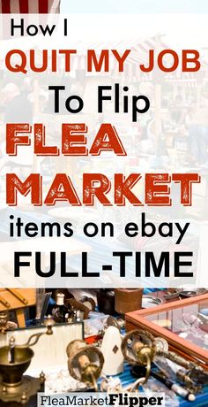 I love buying and reselling treasures I find at the flea market! It has now turned into my full time job and it is awesome that I have the freedom to make my own schedule. EBay is a great place to sell items for profit. #fleamarketflip #ebay #makemoney